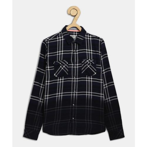 Pepe Jeans Boys Checkered Casual Blue Shirt