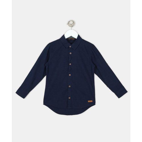 Provogue Boys Checkered Casual Dark Blue Shirt