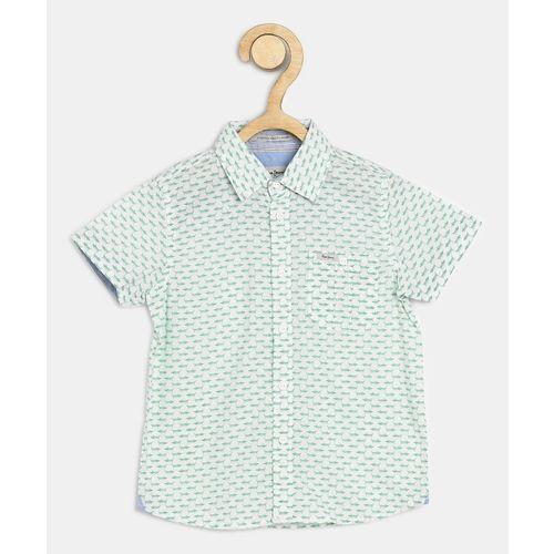 Pepe Jeans Boys Printed Casual Green Shirt