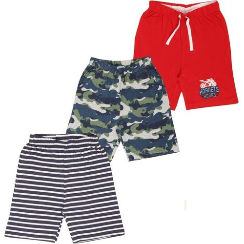 MIDAAS Short For Boys Casual Solid Cotton Blend(Multicolor, Pack of 3)