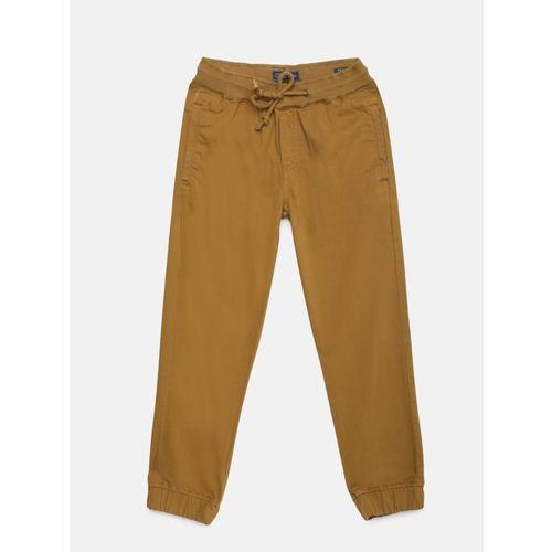 Indian Terrain Regular Fit Boys Brown Trousers
