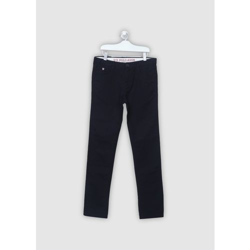 U.S. Polo Assn. Kids Slim Fit Boys Dark Blue Trousers