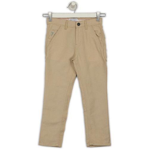 Gini & Jony Slim Fit Boys Beige Trousers