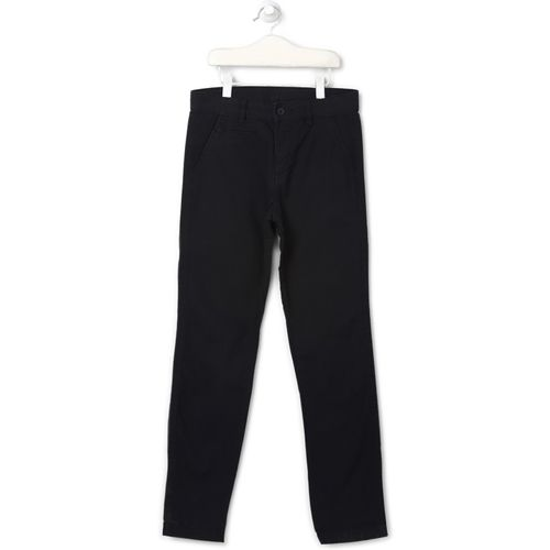 Flying Machine Regular Fit Boys Black Trousers