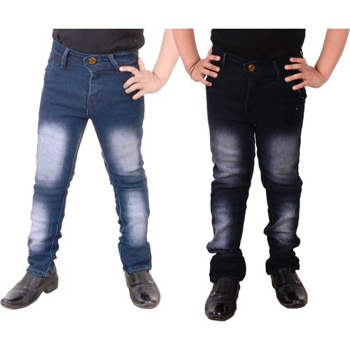 Guchu Slim Boys Blue Jeans(Pack of 2)