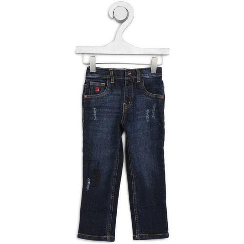 Palm Tree Slim Boys Dark Blue Jeans