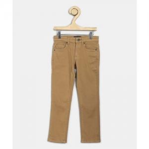 Indian Terrain Regular Boys Brown Jeans