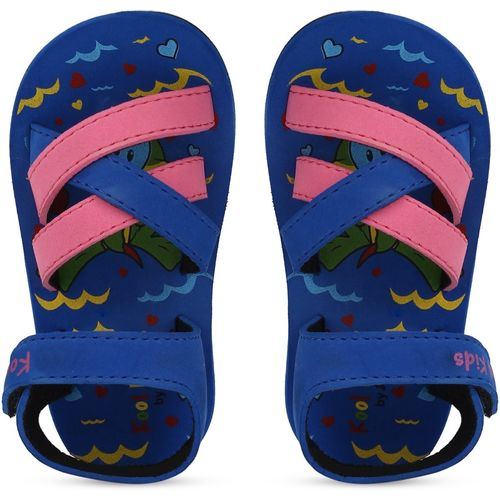 Bubblegummers Boys Velcro Strappy Sandals(Blue)