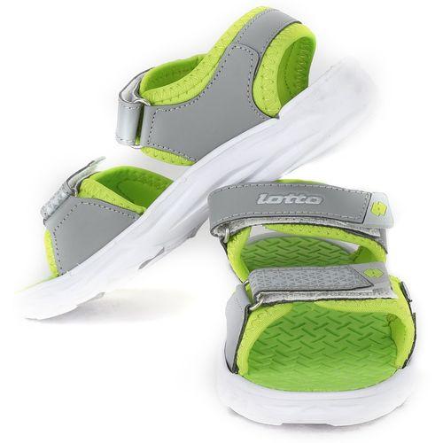 Lotto Boys & Girls Velcro Sports Sandals(Grey)