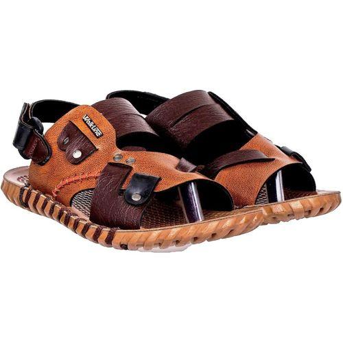 WalkLine Boys Velcro Sports Sandals(Brown)