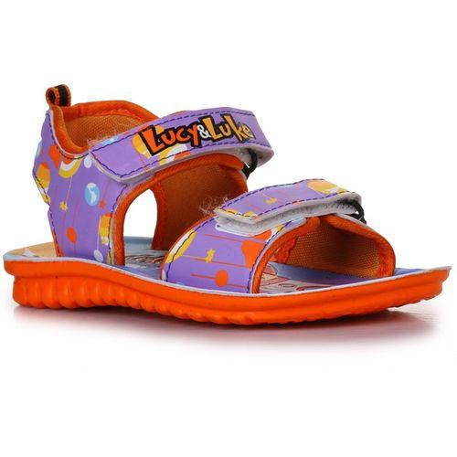 Lucy & Luke By Liberty Boys Velcro Flats(Purple)