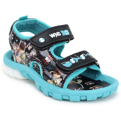 WINDY Boys & Girls Velcro Flats(Light Blue)