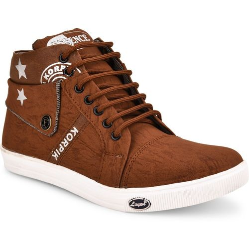 Essence Boys Lace Sneakers(Brown)