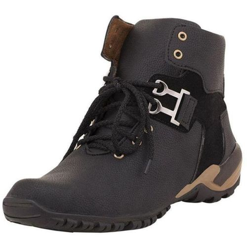 CEONA Boys Lace Casual Boots(Black)