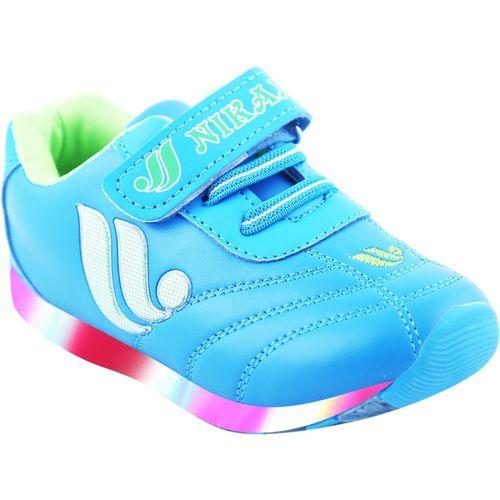 LNG Lifestyle Boys & Girls Velcro Dancing Shoes(Light Blue)