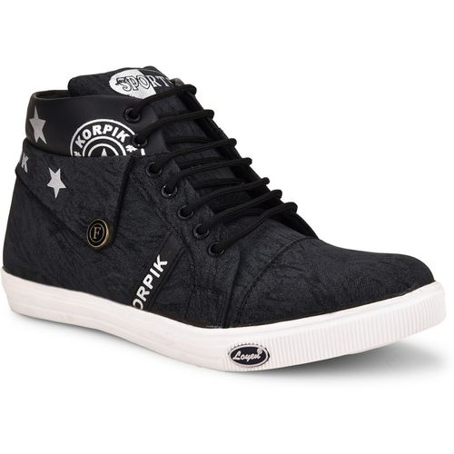 Essence Boys Lace Sneakers(Black)