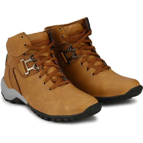 CEONA Boys Lace Casual Boots(Brown)