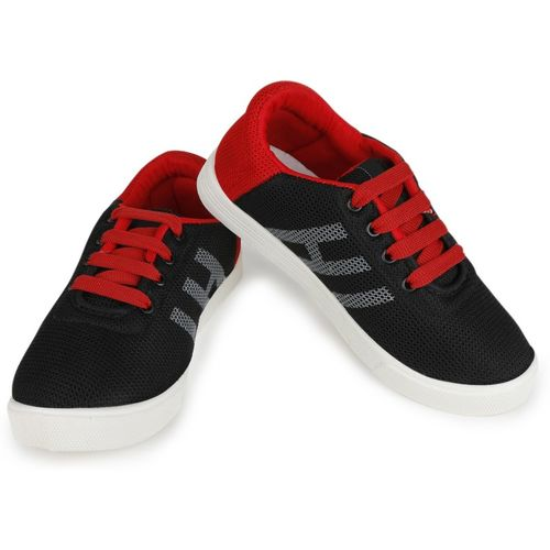 Extavo Boys & Girls Lace Sneakers(Red)