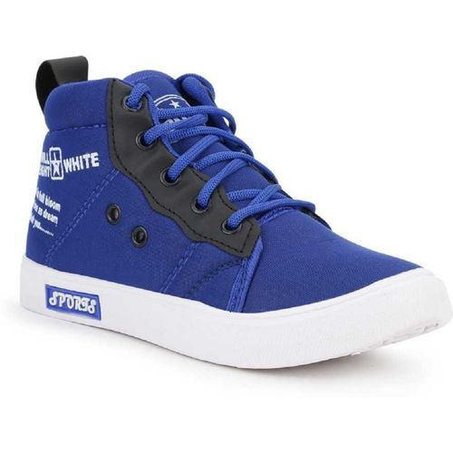 Lets Run Boys & Girls Lace Sneakers(Blue)