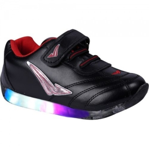 LNG Lifestyle Boys & Girls Velcro Dancing Shoes(Black)