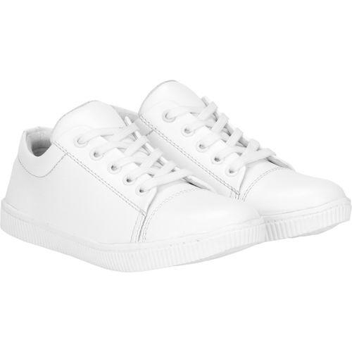 Kraasa Boys Lace Sneakers(White)