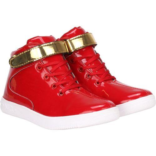 Kraasa Boys Velcro Sneakers(Red)