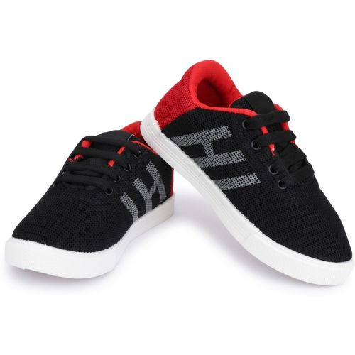 lets run Boys Lace Sneakers(Red)