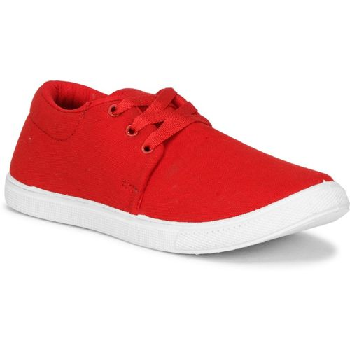 NAMCHEE Boys & Girls Lace Sneakers(Red)