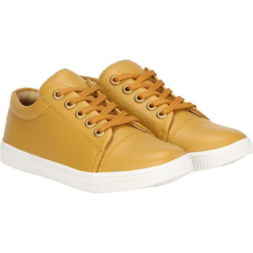 Kraasa Boys Lace Sneakers(Gold)