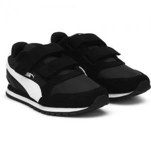 Puma Boys & Girls Velcro Sneakers(Black)