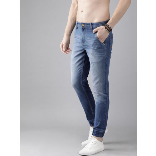Roadster Men Blue Jogger Mid-Rise Clean Look Stretchable Jeans