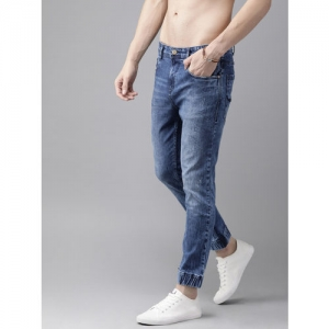 Roadster Men Blue Slim Fit Mid-Rise Clean Look Stretchable Joggers