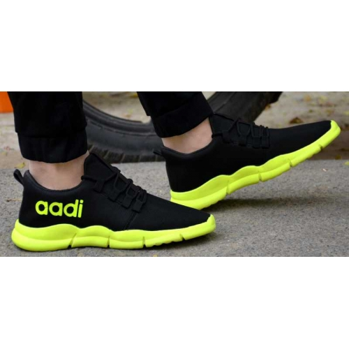 Aadi Black Synthetic Lace Up Sports Shoes