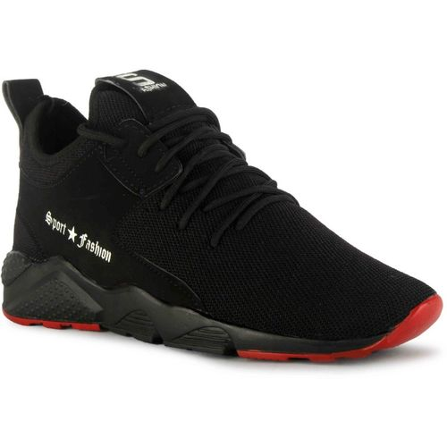 Rockfield Black Mesh lace Up Running Shoes