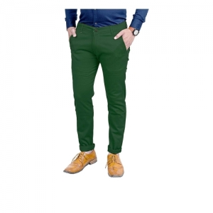 AOLOPY-9 Cotton Green Regular Fit Trouser