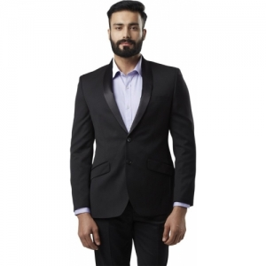 Raymond Black pure wool Solid Single Breasted Formal Men Blazer