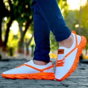 ADS Orange Mesh light weight comfortable sports shoes