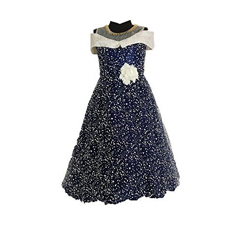 My Lil Princess Baby Girls Birthday Frock Dress_Blue Polka Small_4-10 Years