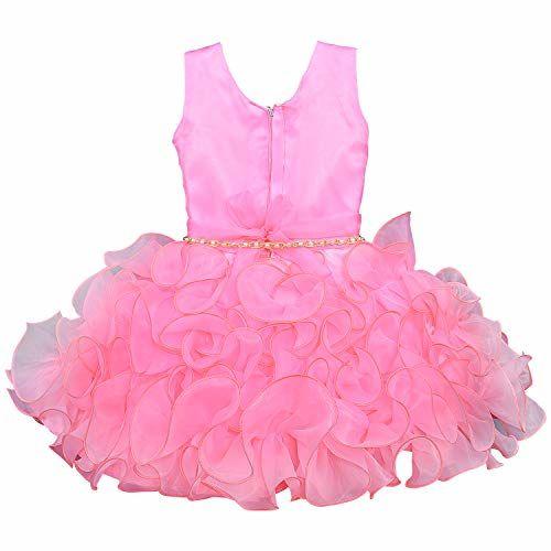 Wish Karo Baby Girls Frock Birthday Dress for Girls - Tissue - (bxa109)