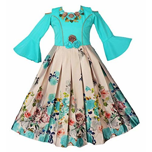 My Lil Princess Baby Girls Birthday Frock Dress_Bell Sleeves_1-13 Years