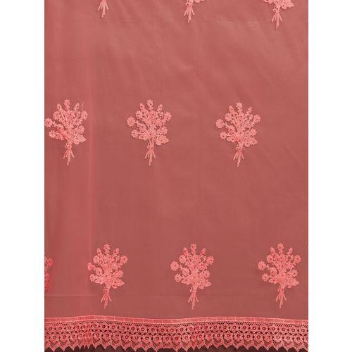 Tikhi Imli Pink Embroidered Net Saree