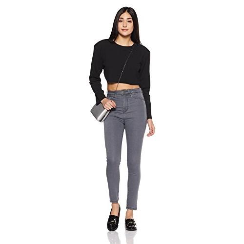 AKA CHIC Women's Grey Skinny Fit Jeans