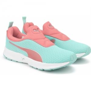 Puma Green Mesh Slip-On Sports Shoes
