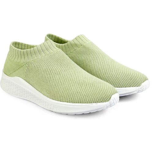 Meriggiare Women Breathable Gym Trainers Fitness/Workout Memory Foam Sock Slip Sports Shoes Training & Gym Shoes For Women(Green)