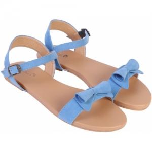 NS STYLE Women Light Blue Casual Flats Sandals