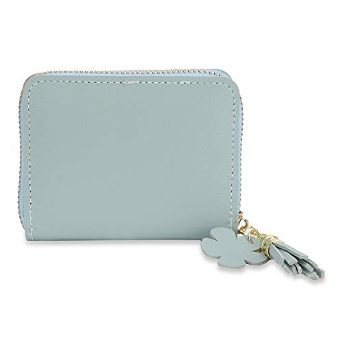 NFI essentials Blue Fashion PU Leather Mini Wallet
