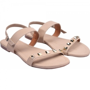 Jade Women Beige Flats Sandals