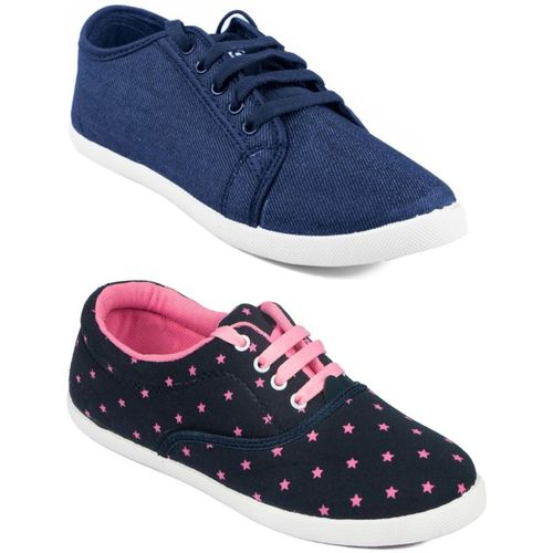 Asian Women's Combo pack of 2 Sneakers For Women(Multicolor)