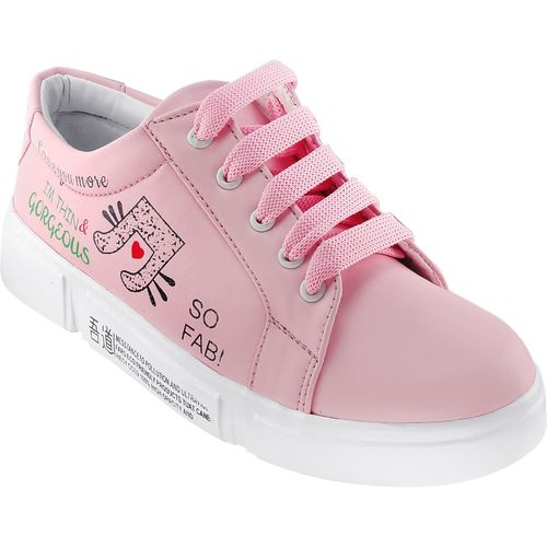 RINDAS Women's/Ladies/Female/Girls Trendy Fashionable Lightweight Comfortable Partywear, Casual wear Lace-Up Shoes Sneakers For Women(Pink)