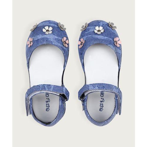 Miss & Chief Girls Velcro Flats(Blue)